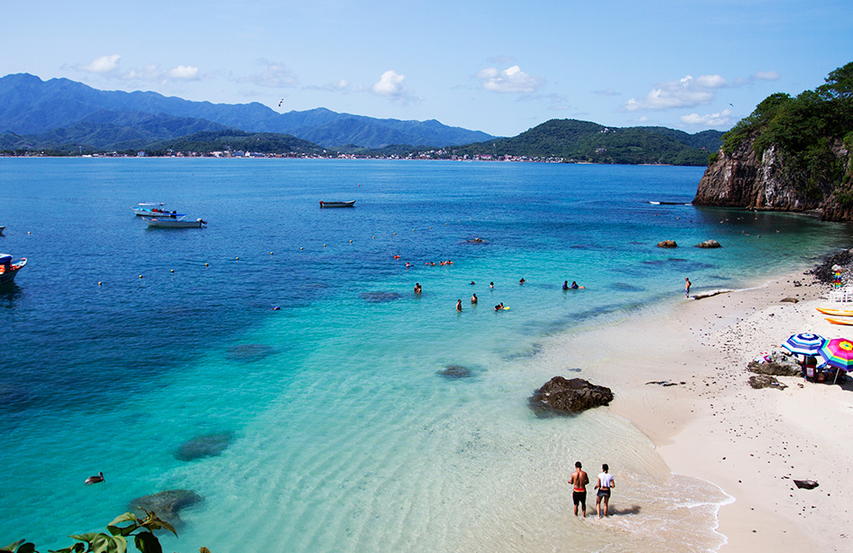 Crystal waters in Coral Island, just 30 minutes away from Sayulita