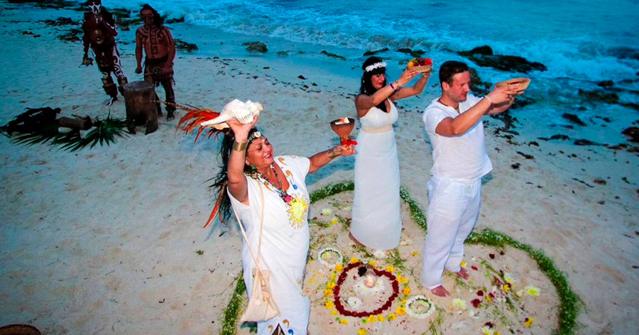 Mayan Wedding by the Beach