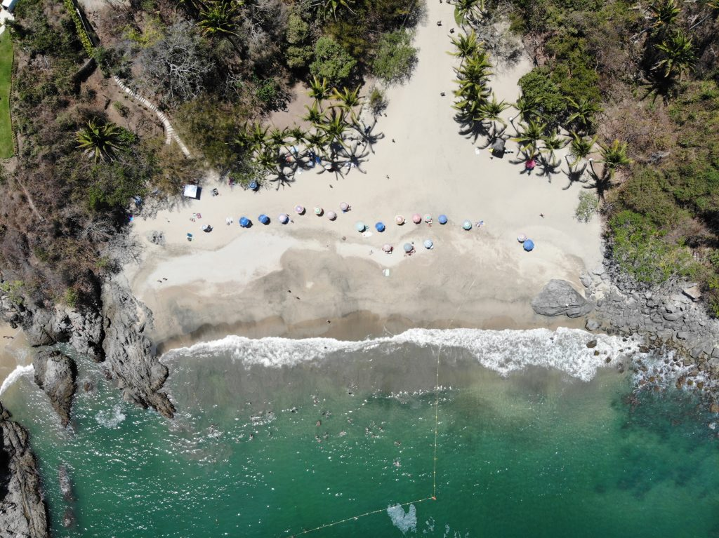 Playa de los Muertos or Beach of the Dead, one of the most beautiful beaches in Mexico