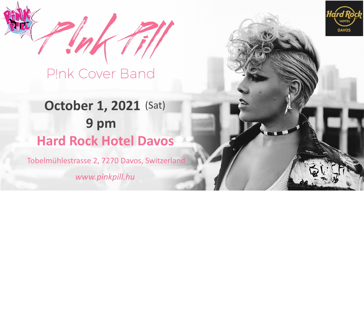 PINKTOBER OPENING LIVE MUSIC SESSION - P!NK PILL (P!NK TRIBUTE SHOW)