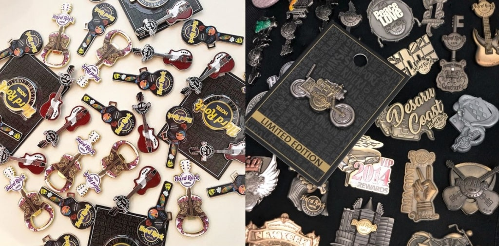 hard rock pins and magnets