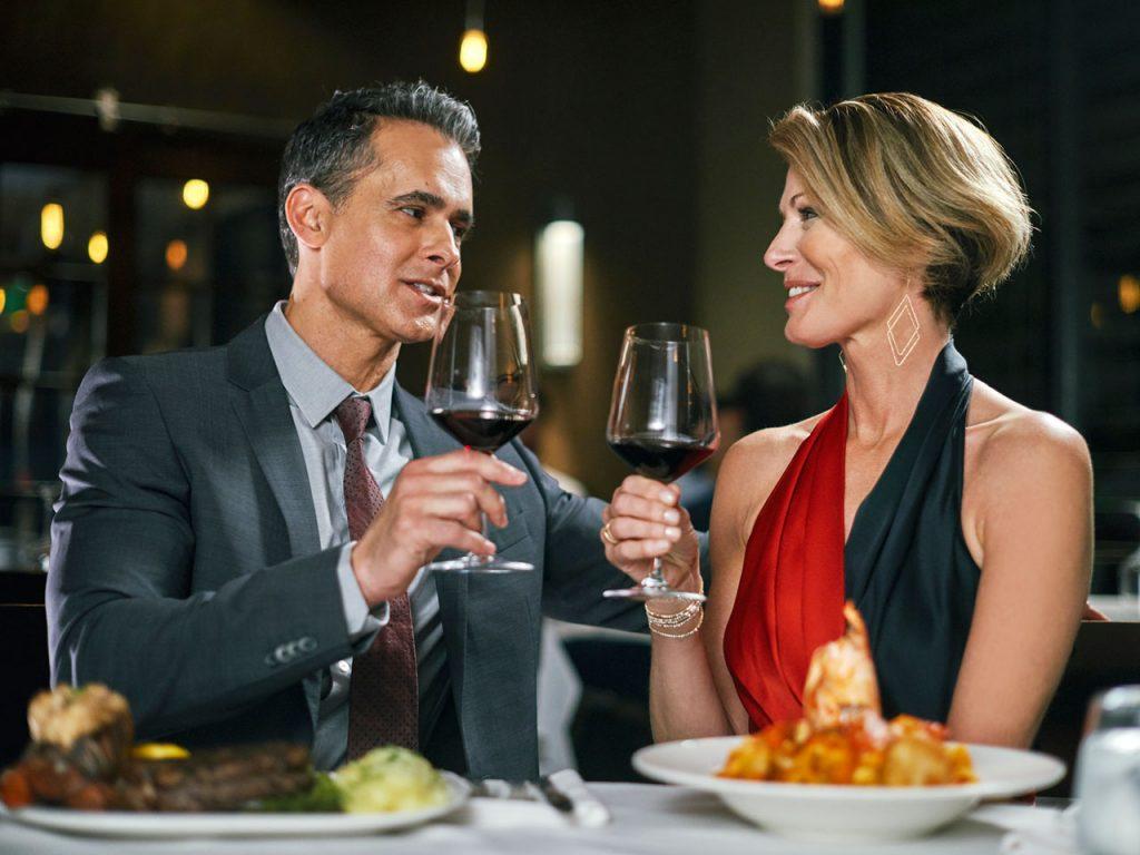 Image of couple drinking wine