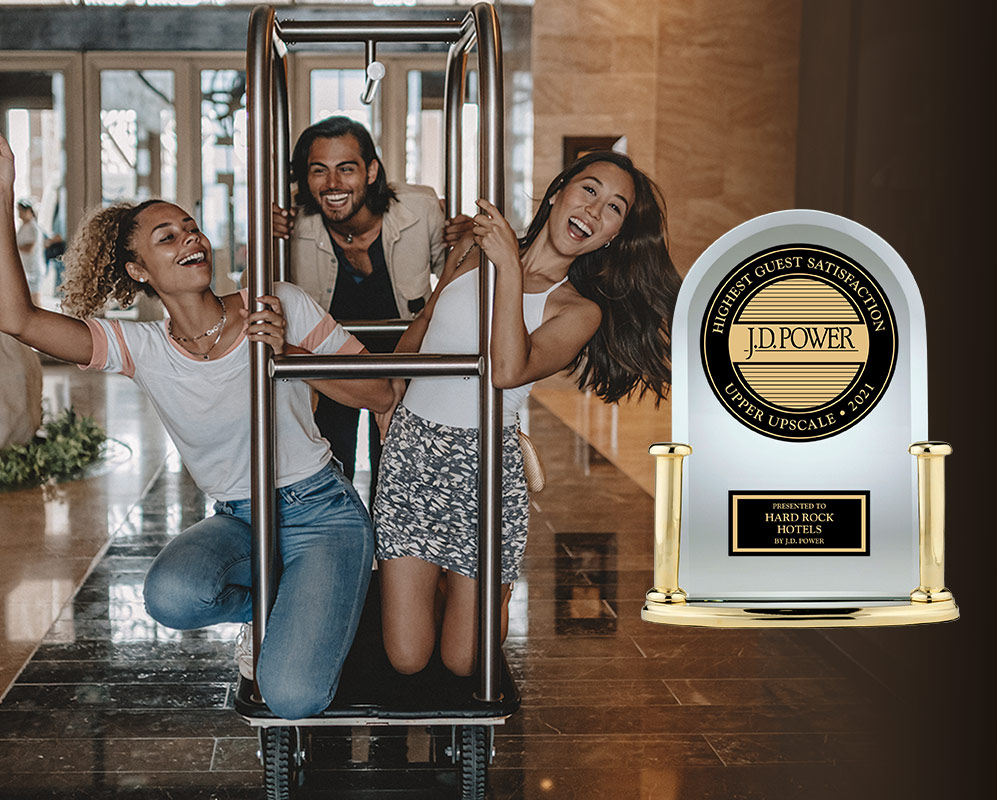 Hard Rock Hotels Ranked #1 in Guest Satisfaction in JD Power