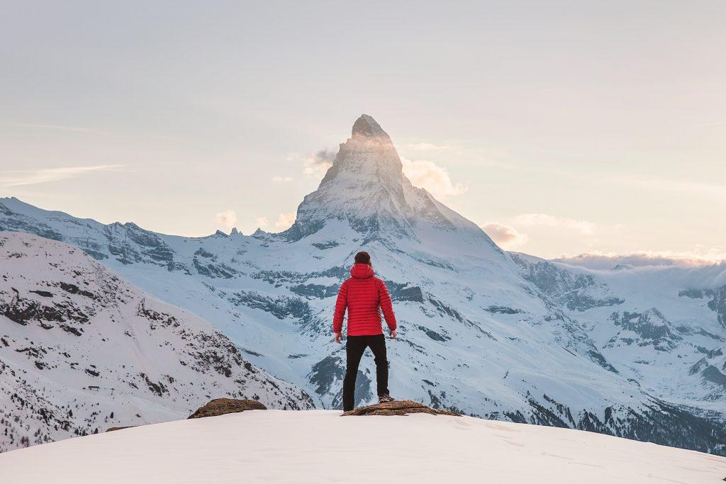 image of man on mountain