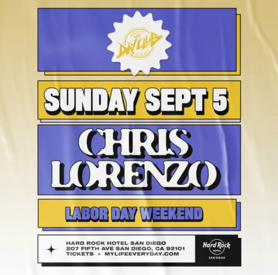 Labor Day Weekend with Chris Lorenzo